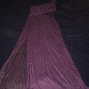 David's bridal plum dress.
